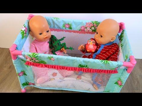 Куклы Пупсики Непослушных в Манеж! Играем с #Бебибон Мультик для Самых Маленьких