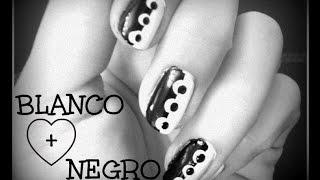 3 Diseños de Uñas en Blanco y Negro para Principiantes - Black & White Nail Art for Beginners