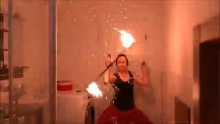 Die Feuershow im Homeoffice?! - mit Harlekin On Fire