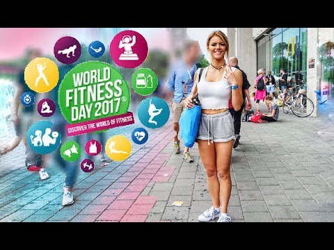WORLD FITNESS DAY 2017 | Sunny in Frankfurt VLOG | größte Fitness Workout Event mit Weltrekord