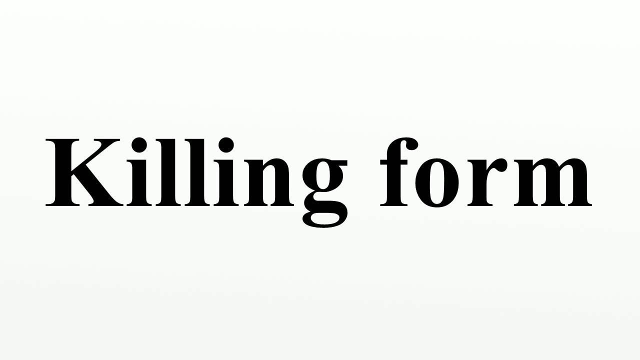 Killing form - YouTube