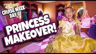 DISNEY PRINCESS MAKEOVER IN FRANCE!!! Bibbidi Bobbidi Boutique Disney Magic! Cruise Week - DAY 6