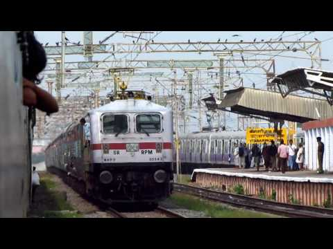 INDIAN RAILWAYS- Highly Expensive Passenger Train arrives a busy CHENNAI CENTRAL& A Surprise
