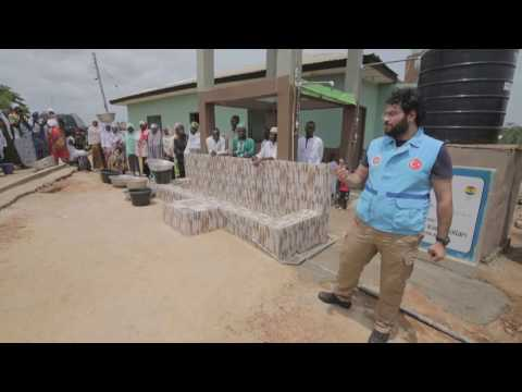Opening Of A Water Well In Ashanti Area Of Ghana.