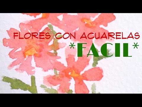Flores Facil Con Acuarelas Youtube