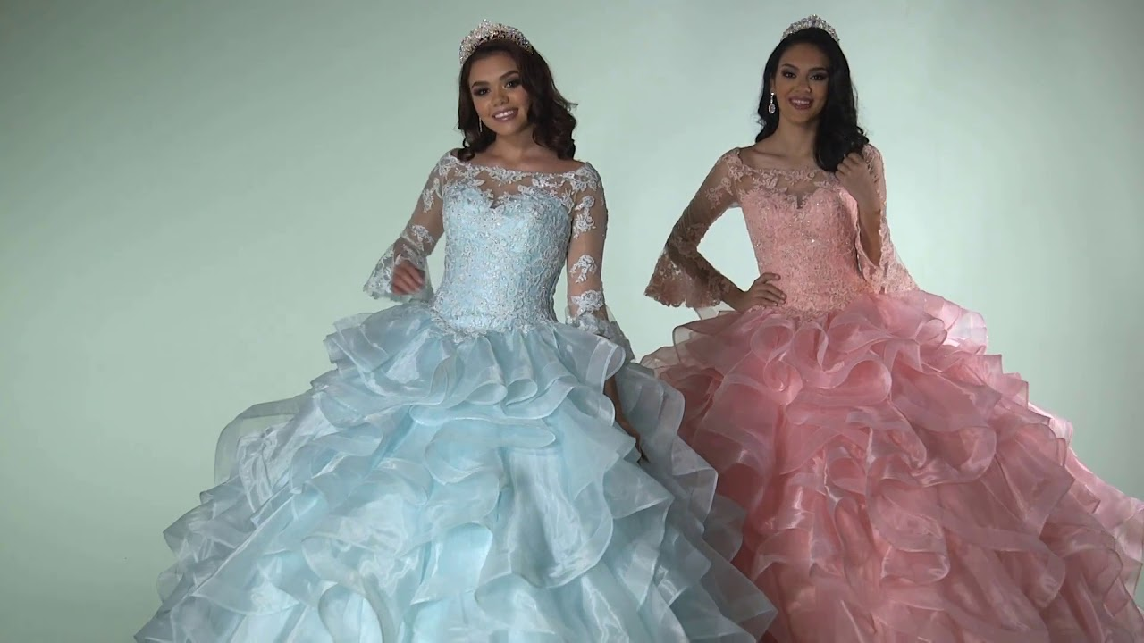 e02af6d9f9 Q by DaVinci Quinceanera Dresses  Style 80399 - YouTube