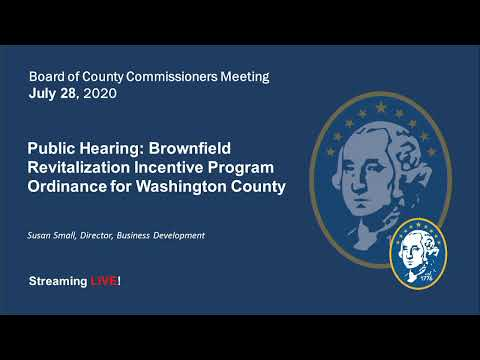WashCo Commissioners Meeting - July 28, 2020