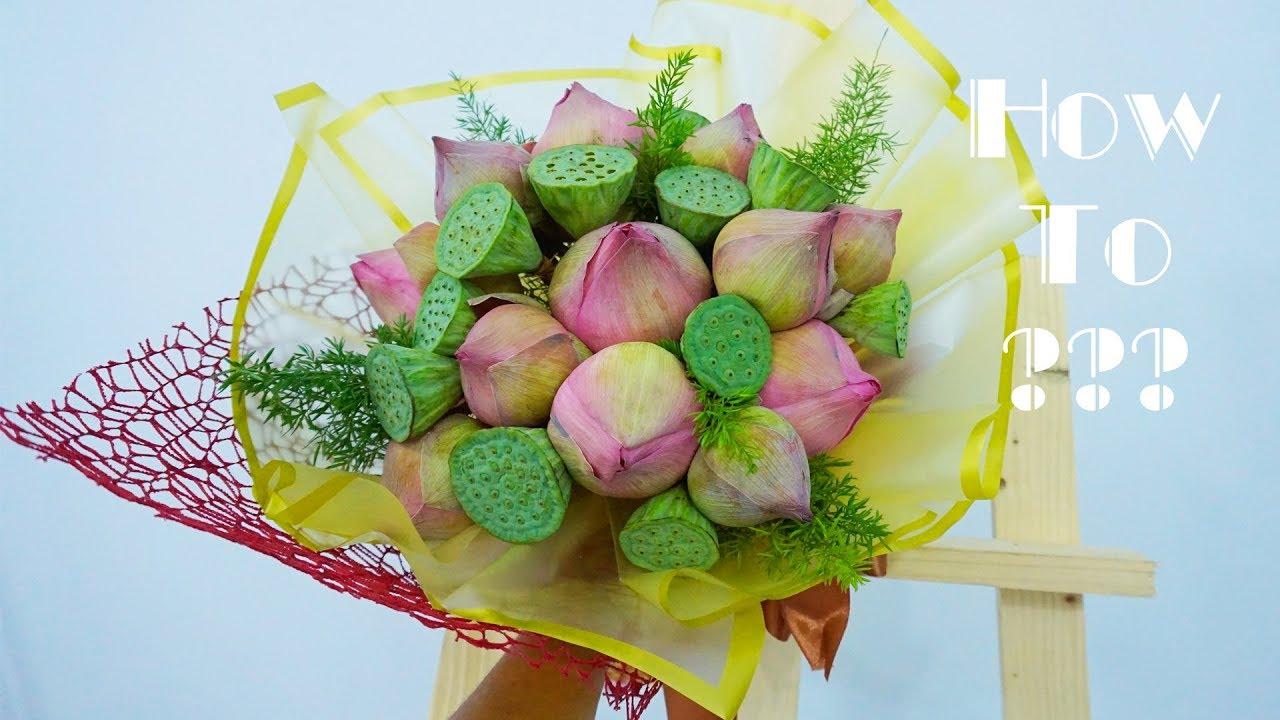 Download 2877 Mb Making Round Hand Tied Presentation Lotus Flower