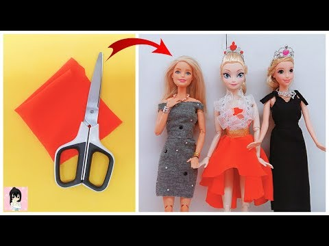 EASY BARBIE DRESS | DIY for Barbies dolls No sew
