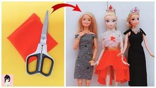 EASY BARBIE DRESS | DIY for Barbies dolls No sew