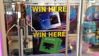 Major Prize Xbox One & PS4 Giant Claw Machine Arcade thumbnail