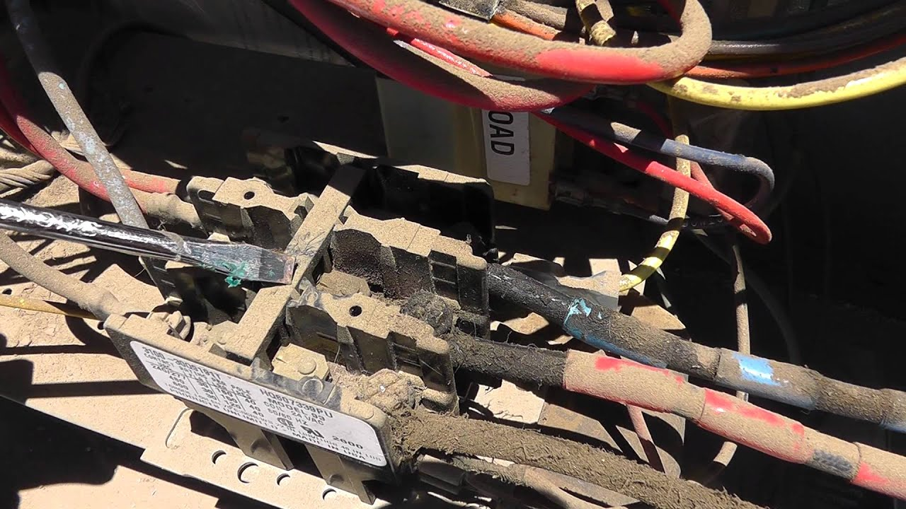 Stuck Contactor On An Air Conditioner By Thermal Medics
