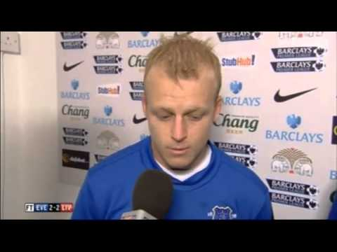Everton 2-2 Liverpool - Phil Neville nd Naismith Interview - 28/10/12