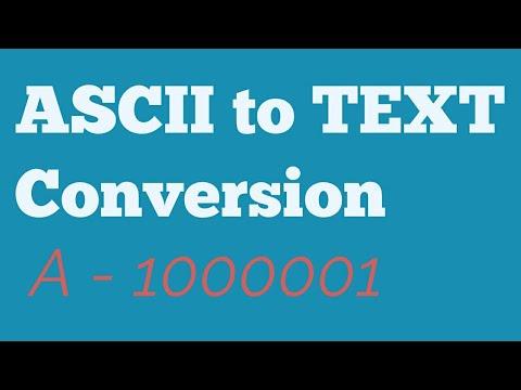ASCII to text conversion