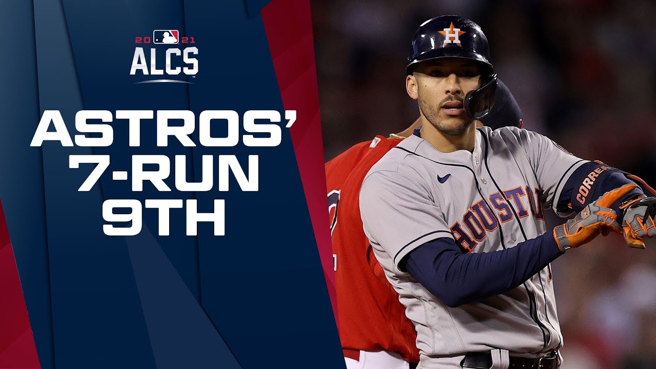 WHAT AN INNING! Astros pile on 7 runs to take lead in 9th vs. Red Sox