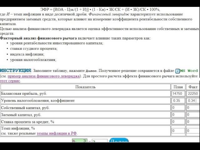 Решение задач финансовым левериджем манера решения задачи 6 букв