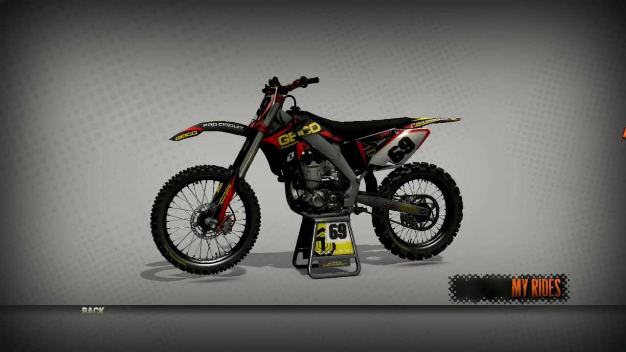 mx vs atv reflex suzuki 450 geico sponsor youtube. Black Bedroom Furniture Sets. Home Design Ideas