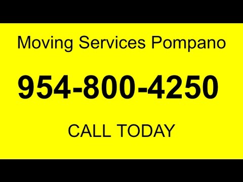 Full Service Moving Companies in Pompano | Call 954-800-4250