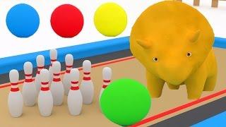 Spielt Bowling & lernt Zahlen und Farben mit Dino den Dinosa...