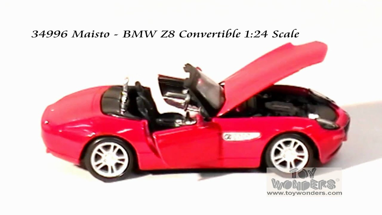 34996 Maisto Bmw Z8 Convertible 124 Scale Diecast Wholesale Mpg Youtube