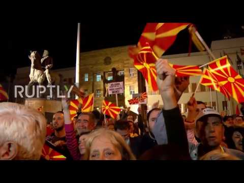 Macedonia: Thousands of nationalists protest against EU in Skopje