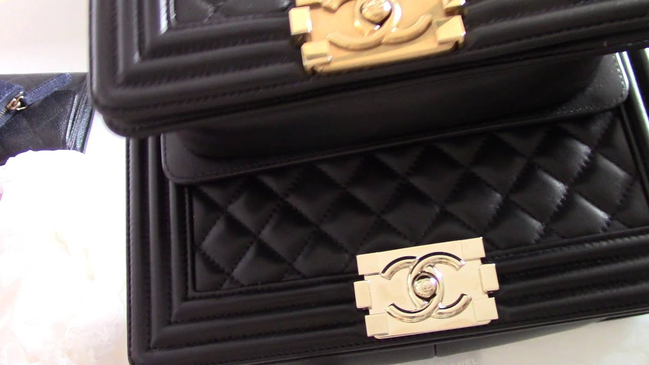 chanel review handbag boy quotold medium vs smallquot youtube
