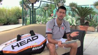 HEAD Tour TV: Player to Player Interview with Novak Djokovic