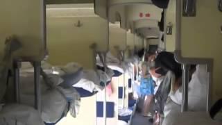Ранним утром в поезде