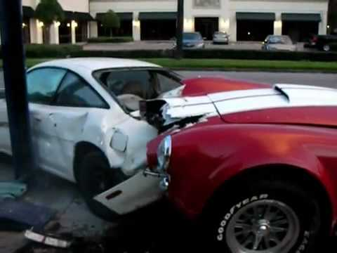 Shelby Cobra Crashes Into Parked Car - Never Let Your Girlfriend Drive Your Exotic Car!
