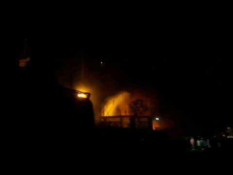 Fire in Indian oil reserver.....