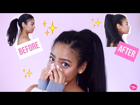 ARIANA GRANDE INSPIRED PONYTAIL | HONEST INH HAIR DEMO & REVIEW thumbnail