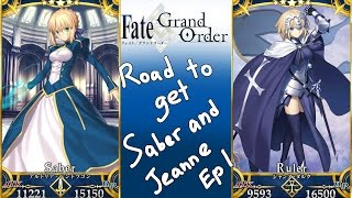 Fate/Grand Order - Road to Get Saber and Jeanne d