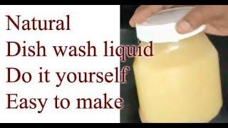Natural Dishwash liquid - How to make in Tamil
