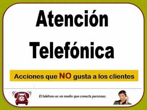 ATENCION TELEFONICA.wmv - YouTube