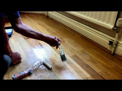 HOW TO  DIY Dulux Diamond Floor Varnish a floor