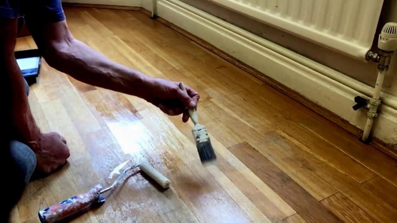 How To Diy Dulux Diamond Floor Varnish A Floor Youtube