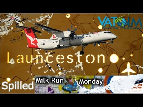 Majestic DH8D flies to Launceston on Vatsim