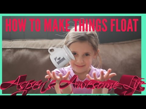 How to Make Objects Float - Aspen's Levitation SuperHero