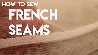 How to Sew French Seams, bridal gown sleeves