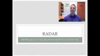 1- Introduction sur le RADAR: outil de dépistage du delirium