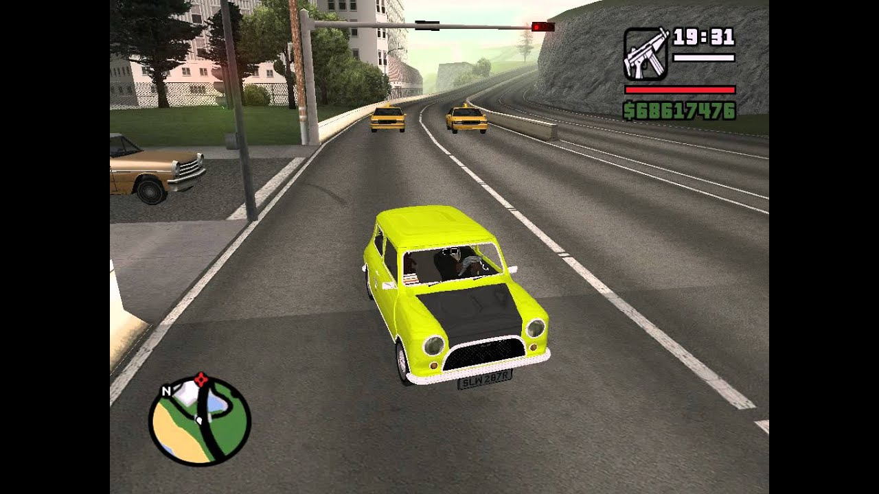 Grand Theft Auto San Andreas Mr Bean Car Mode Youtube