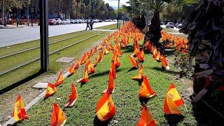 Murcia amanece con banderas de España en homenaje a 56.000 fallecidos por el virus