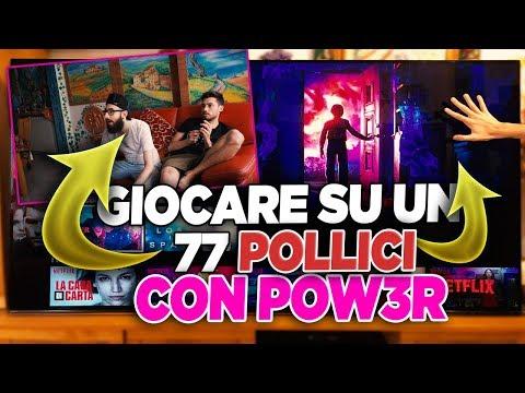 GIOCARE A FORTNITE SU UN 77 POLLICI CON POWER