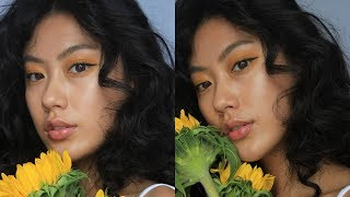 SUNFLOWER VIBES MAKEUP LOOK   Haley Kim