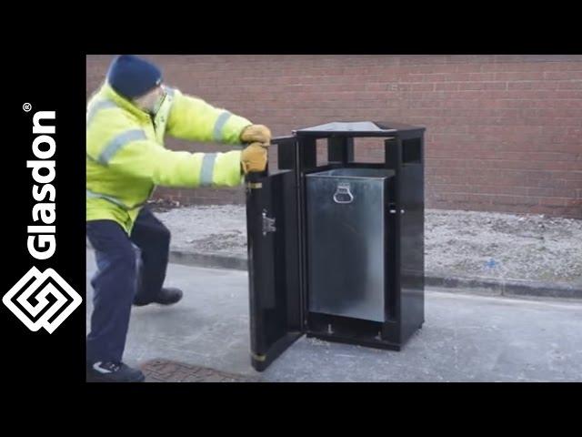 Glasdon UK   Product Testing   Invicta™ metal litter bin
