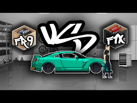F1X VD FR9 FULLY UPGRADED    WITCH IS FASTER?? - PIXEL CAR RACER