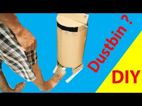 How to Make Slide Dustbin With Cardboard at Home DIY [tutorial]