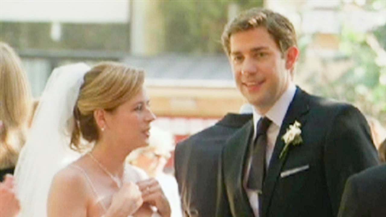 Jim And Pam Wedding.Behind The Scenes Of Jim Pam S Office Wedding