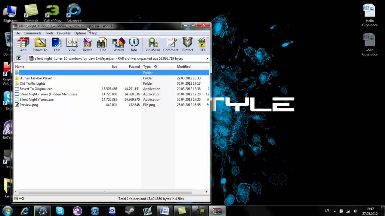 How to change your Itunes background/theme on Windows