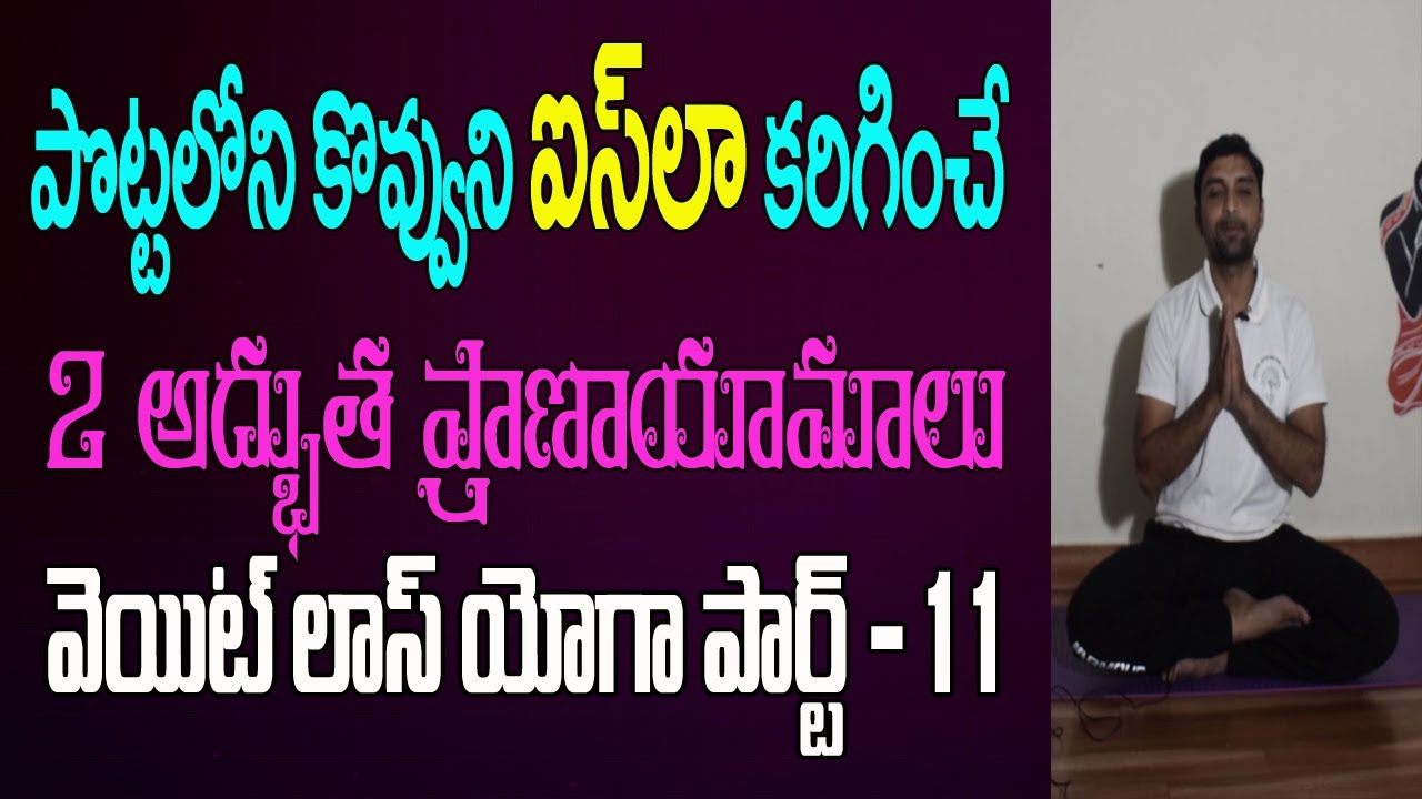 Pranayam For Weight Loss Yoga For Weight Loss In Telugu Breathing Exercises Yoga In Telugu 2 Youtube